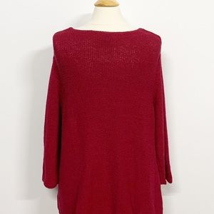 Eileen Fisher Sweaters - Eileen Fisher | Knit V-neck Red Sweater 1X
